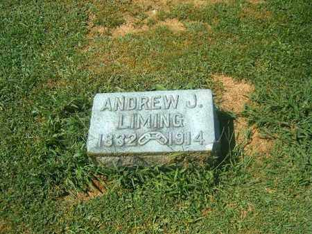 LIMING, ANDREW  J - Brown County, Ohio | ANDREW  J LIMING - Ohio Gravestone Photos