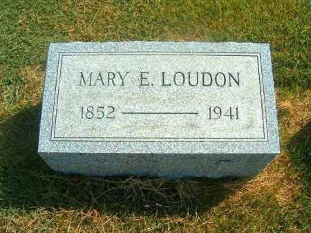 LOIDON, MARY  E - Brown County, Ohio   MARY  E LOIDON - Ohio Gravestone Photos