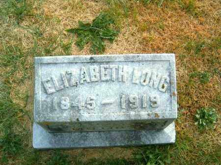 LONG, ELIZABETH - Brown County, Ohio | ELIZABETH LONG - Ohio Gravestone Photos