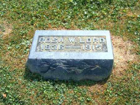 LORD, ROSA  W - Brown County, Ohio | ROSA  W LORD - Ohio Gravestone Photos