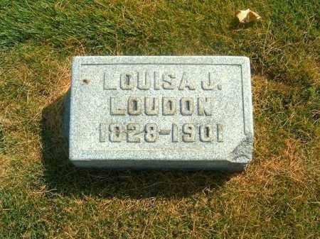 LOUDON, LOUISA   J - Brown County, Ohio | LOUISA   J LOUDON - Ohio Gravestone Photos