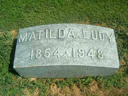 LUDY, MATILDA - Brown County, Ohio | MATILDA LUDY - Ohio Gravestone Photos