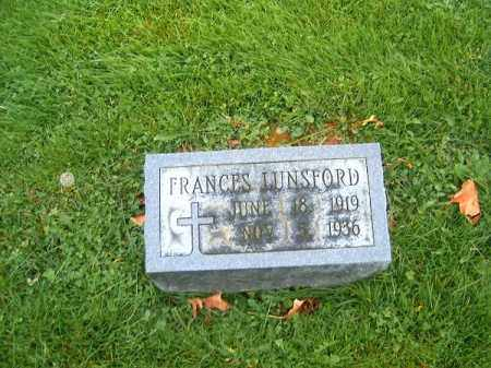 LUNSFORD, FRANCES - Brown County, Ohio | FRANCES LUNSFORD - Ohio Gravestone Photos