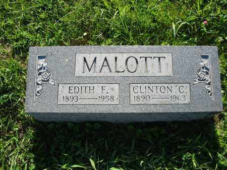 MALOTT, EDITH F. - Brown County, Ohio | EDITH F. MALOTT - Ohio Gravestone Photos