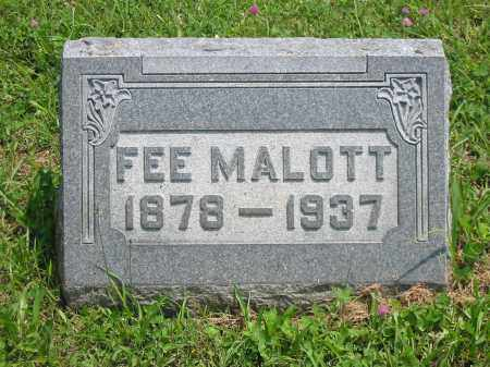 MALOTT, FEE - Brown County, Ohio | FEE MALOTT - Ohio Gravestone Photos