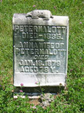 MALOTT, PETER - Brown County, Ohio | PETER MALOTT - Ohio Gravestone Photos