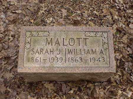 MALOTT, WILLIAM   A - Brown County, Ohio | WILLIAM   A MALOTT - Ohio Gravestone Photos
