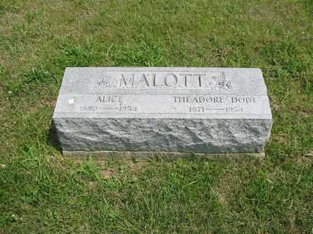 MALOTT, ALICE - Brown County, Ohio | ALICE MALOTT - Ohio Gravestone Photos