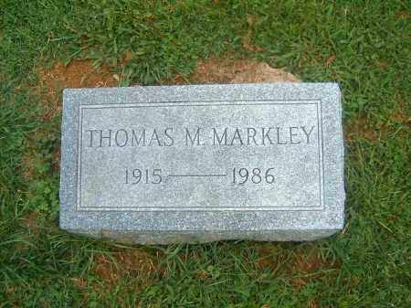 MARKLEY, THOMAS   M - Brown County, Ohio | THOMAS   M MARKLEY - Ohio Gravestone Photos