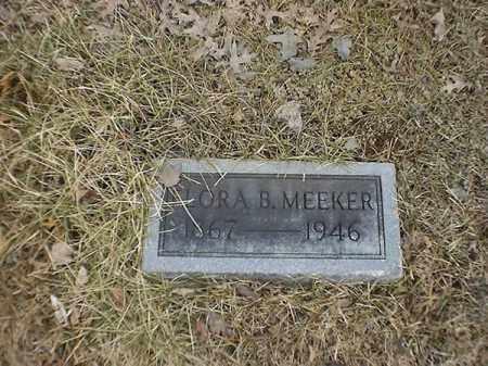 MEEKER, FLORA   B - Brown County, Ohio | FLORA   B MEEKER - Ohio Gravestone Photos