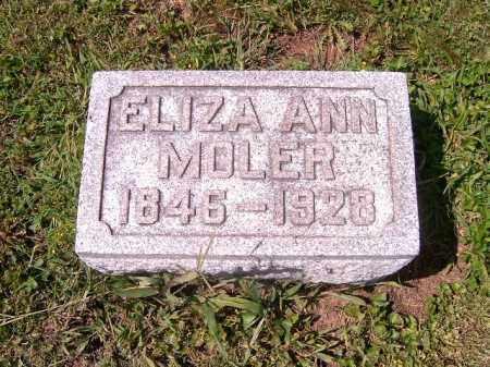 MOLER, ELIZA  ANN - Brown County, Ohio | ELIZA  ANN MOLER - Ohio Gravestone Photos