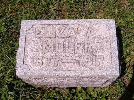 MOLER, ELIZA  A - Brown County, Ohio | ELIZA  A MOLER - Ohio Gravestone Photos