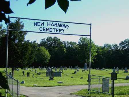 NEW HARMONY, CEMETERY VIEW- ENTRANCE - Brown County, Ohio | CEMETERY VIEW- ENTRANCE NEW HARMONY - Ohio Gravestone Photos