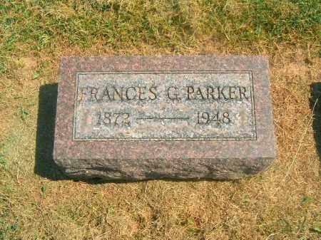 PARKER, FRANCES  G - Brown County, Ohio | FRANCES  G PARKER - Ohio Gravestone Photos