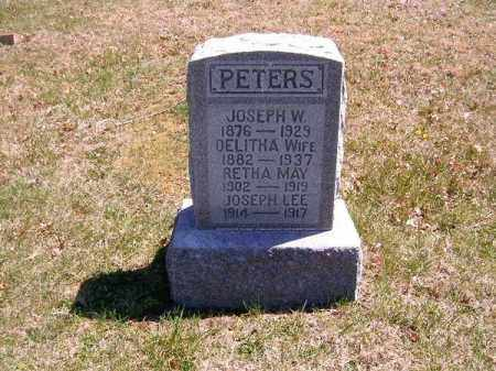 PETERS, JOSEPH LEE - Brown County, Ohio | JOSEPH LEE PETERS - Ohio Gravestone Photos