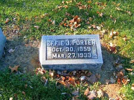 PORTER, EFFIE  J - Brown County, Ohio | EFFIE  J PORTER - Ohio Gravestone Photos