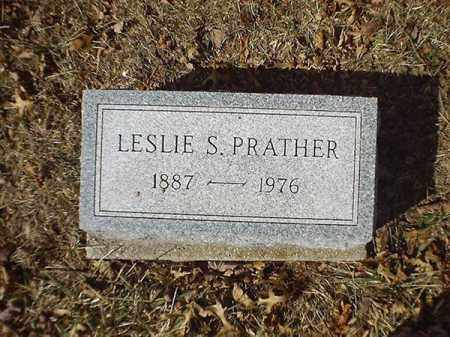 PRATHER, LESLIE  S - Brown County, Ohio | LESLIE  S PRATHER - Ohio Gravestone Photos