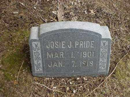 PRIDE, JOSIE   J - Brown County, Ohio | JOSIE   J PRIDE - Ohio Gravestone Photos