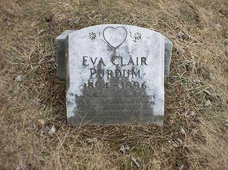 PURDUM, EVA CLAIR - Brown County, Ohio | EVA CLAIR PURDUM - Ohio Gravestone Photos