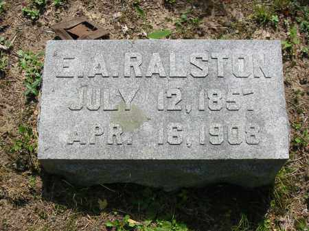 RALSTON, EUGENE A - Brown County, Ohio | EUGENE A RALSTON - Ohio Gravestone Photos