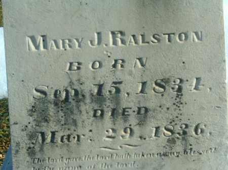 RALSTON, MARY  J - Brown County, Ohio | MARY  J RALSTON - Ohio Gravestone Photos