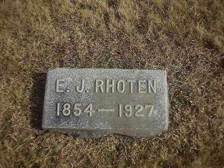 RHOTEN, E J - Brown County, Ohio | E J RHOTEN - Ohio Gravestone Photos