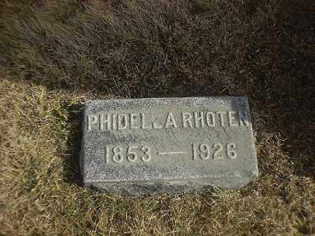 RHOTEN, PHIDELLA - Brown County, Ohio | PHIDELLA RHOTEN - Ohio Gravestone Photos