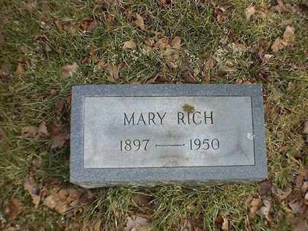 RICH, MARY - Brown County, Ohio | MARY RICH - Ohio Gravestone Photos