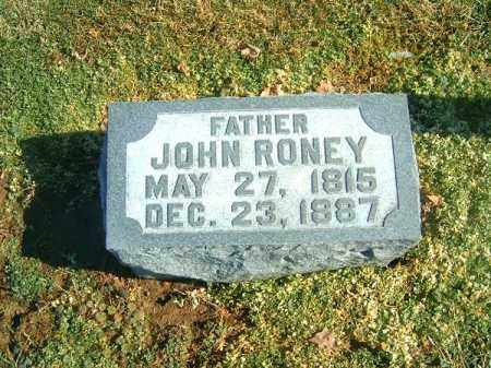 RONEY, JOHN - Brown County, Ohio | JOHN RONEY - Ohio Gravestone Photos
