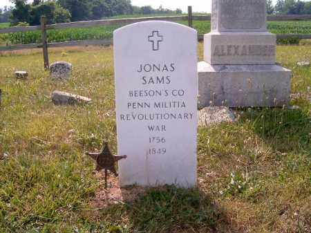 SAMS, JONAS - Brown County, Ohio | JONAS SAMS - Ohio Gravestone Photos