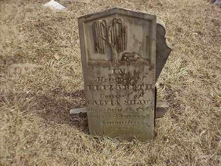SHAW, ELIZABETH - Brown County, Ohio | ELIZABETH SHAW - Ohio Gravestone Photos