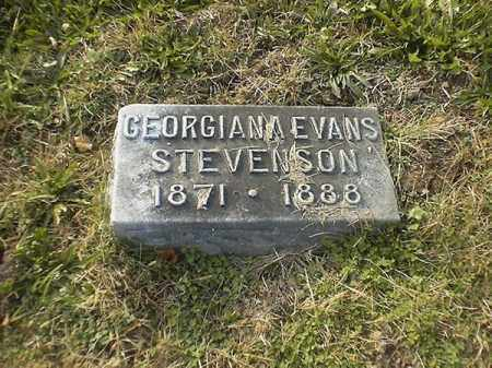EVANS STEVENSON, GEORGIANA - Brown County, Ohio | GEORGIANA EVANS STEVENSON - Ohio Gravestone Photos