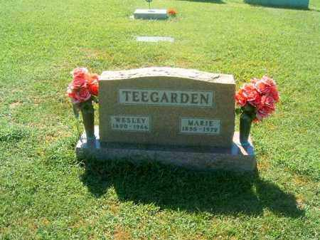 TEEGARDEN, WESLEY - Brown County, Ohio | WESLEY TEEGARDEN - Ohio Gravestone Photos