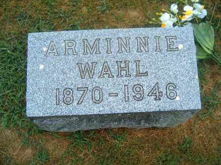 WAHL, ARMINNIE - Brown County, Ohio | ARMINNIE WAHL - Ohio Gravestone Photos