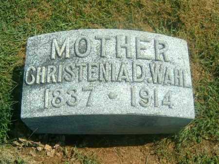 WAHL, CHRISTENIA  D - Brown County, Ohio | CHRISTENIA  D WAHL - Ohio Gravestone Photos