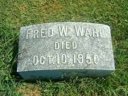 WAHL, FRED   W - Brown County, Ohio | FRED   W WAHL - Ohio Gravestone Photos