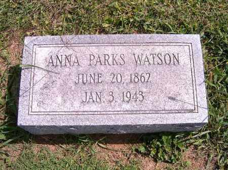 PARKS WATSON, ANNA - Brown County, Ohio | ANNA PARKS WATSON - Ohio Gravestone Photos
