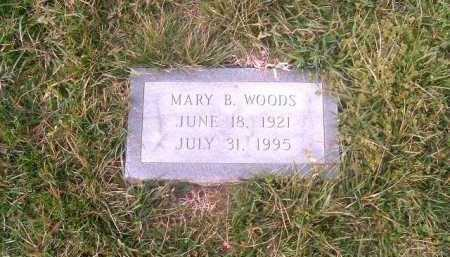 WOODS, MARY  B - Brown County, Ohio | MARY  B WOODS - Ohio Gravestone Photos