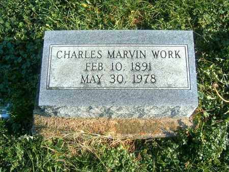WORK, CHARLES  MARVIN - Brown County, Ohio | CHARLES  MARVIN WORK - Ohio Gravestone Photos