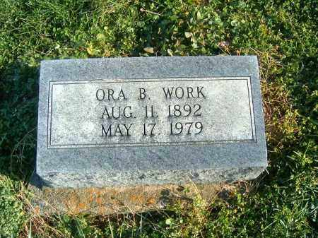 B WORK, ORA - Brown County, Ohio | ORA B WORK - Ohio Gravestone Photos