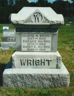 WRIGHT, SARAH E. - Brown County, Ohio | SARAH E. WRIGHT - Ohio Gravestone Photos