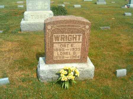 WRIGHT, LOREL B - Brown County, Ohio | LOREL B WRIGHT - Ohio Gravestone Photos