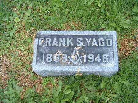 YAGO, FRANK   S - Brown County, Ohio | FRANK   S YAGO - Ohio Gravestone Photos