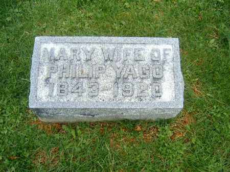YAGO, MARY - Brown County, Ohio | MARY YAGO - Ohio Gravestone Photos