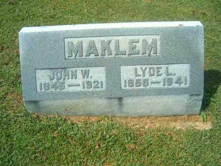MAKLEM, LYDE  L - Brown County, Ohio | LYDE  L MAKLEM - Ohio Gravestone Photos