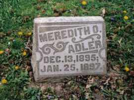 ADLER, MEREDITH O. - Butler County, Ohio | MEREDITH O. ADLER - Ohio Gravestone Photos