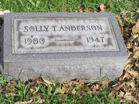 ANDERSON, SOLLY THOMAS - Butler County, Ohio | SOLLY THOMAS ANDERSON - Ohio Gravestone Photos