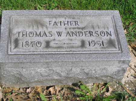 ANDERSON, THOMAS WILLIAM - Butler County, Ohio | THOMAS WILLIAM ANDERSON - Ohio Gravestone Photos