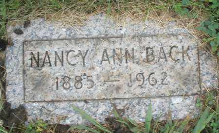 BACK, NANCY ANN - Butler County, Ohio | NANCY ANN BACK - Ohio Gravestone Photos
