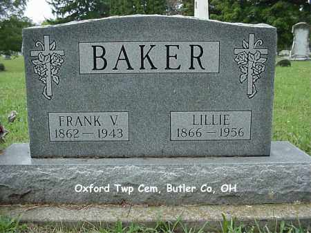 BAKER, LILLIE - Butler County, Ohio | LILLIE BAKER - Ohio Gravestone Photos
